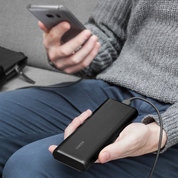 Anker PowerCore 15600 - Black - [18 Month Warranty] - بطارية متنقلة - اسود