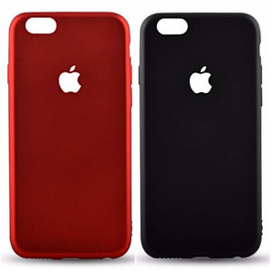 Plain Case TPU Apple Logo