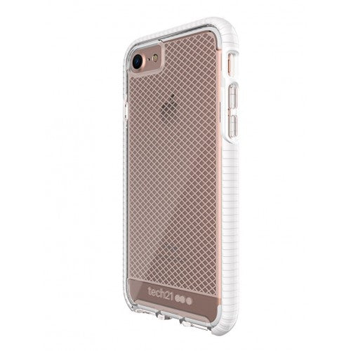 Tech21 Evo Check Case for iPhone 7/8 - (Clear/White) - كفر حماية عالية