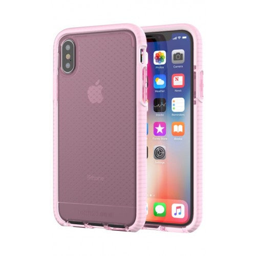 Tech21 Evo Check Case for iPhone X - (Light Rose/White)