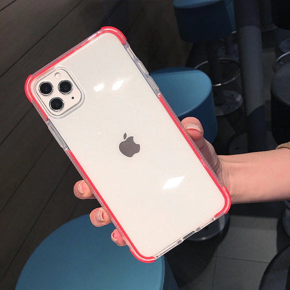 Red Clear Case Dual Layers Shockproof