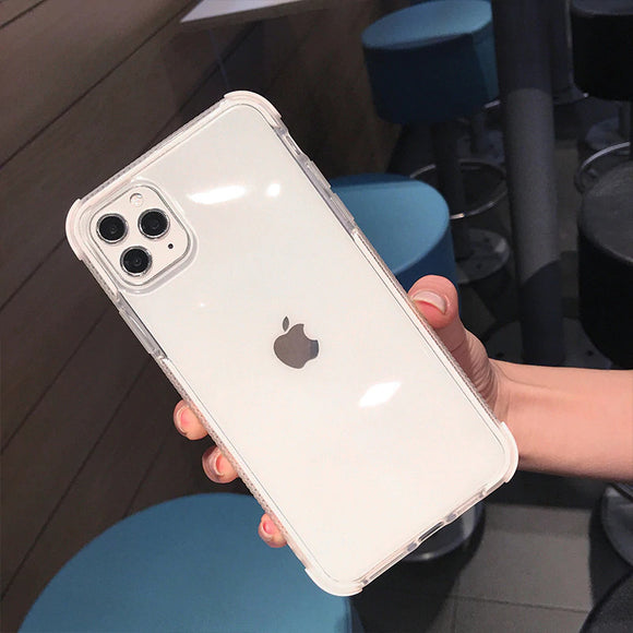 White Clear Case Dual Layers Shockproof
