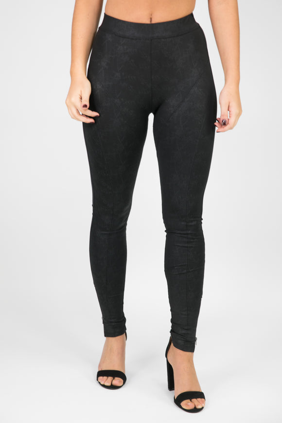 MOTO BLACK FAUX LEATHER LEGGINGS