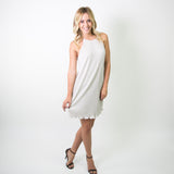HALTER DRESS WITH KEYHOLE