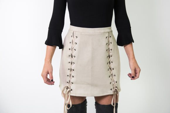 FRONT LACE TIE SKIRT