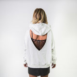 HOODED SWEATSHIRT WITH FRONT AND BACK CUTOUTS