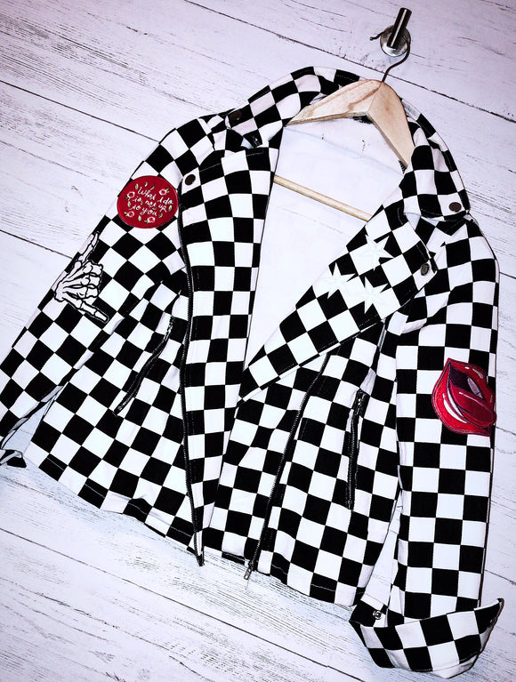 EXCLUSIVE HOTROD ZIP UP DENIM