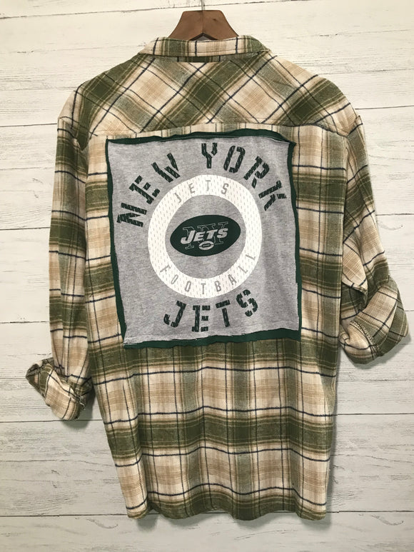 JETS CUSTOM FLANNEL