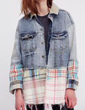 SIRIUS PLAID MIXED DENIM