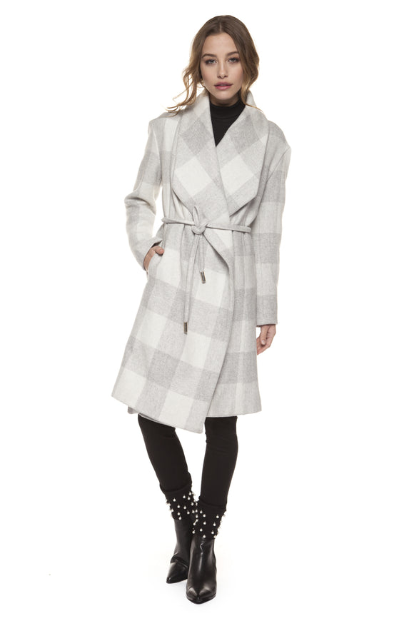 CHELSEA CHECK TRENCH COAT