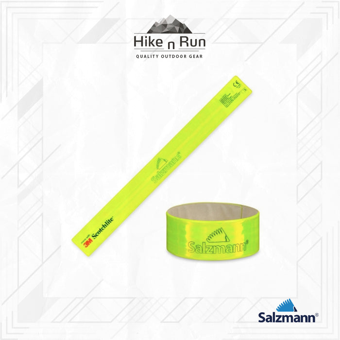 Salzmann 3M Reflective Running Sport Arm Leg Snap Band 3X38 Yellow 43461-Y