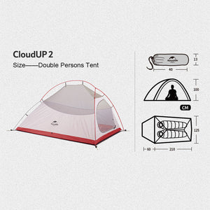 Naturehike Cloud Up 2P 2018 Upgraded 20D NH17T001-T