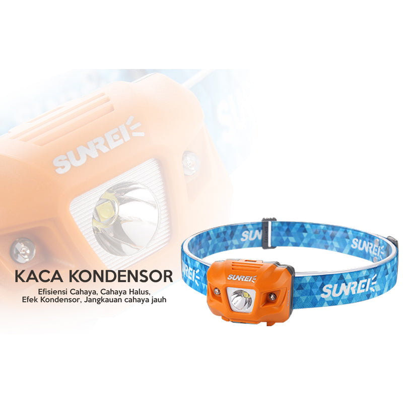 Sunrei Headlamp / Lampu Kepala Youdo 4  335 LUMENS - Hike n Run