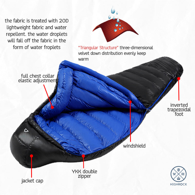 Sleeping Bag Highrock Bulu Bebek Reindeer 2018 0 C