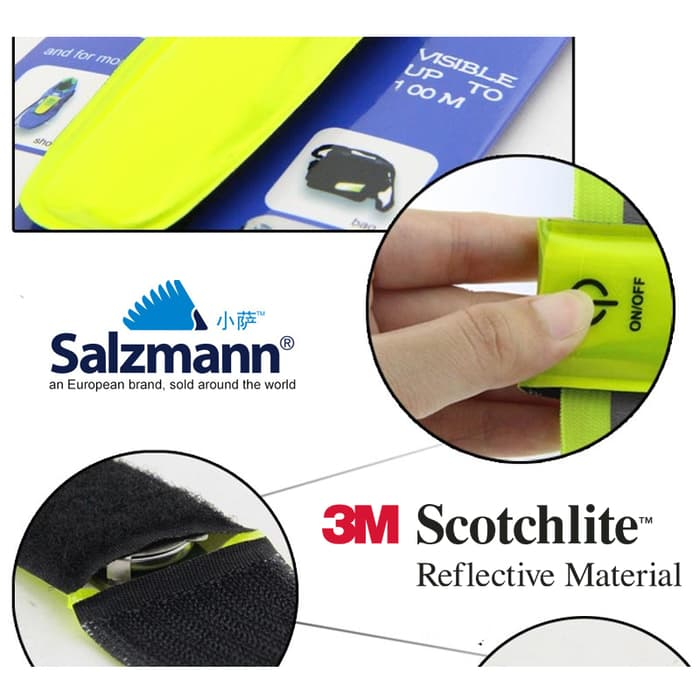 Salzmann LEDs and Reflective Band - Gelang Reflektor - Reflective Arm