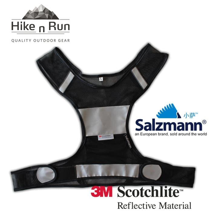 Salzmann 3M Reflective Running Cycling Sport Safety Vest