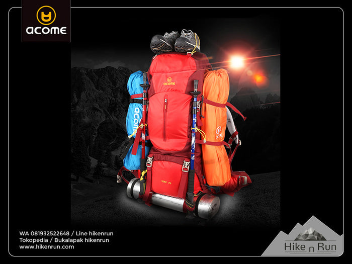 Tas ransel ACOME Backpack STEP 55L AA151B0804 - Hike n Run