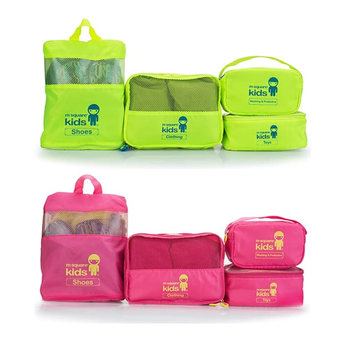 Travel Bag Anak - Travel Bag Kids Set 4 M Square
