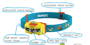 Sunrei Bebe Headlamp For Child / Lampu Kepala Anak-Anak - Hike n Run