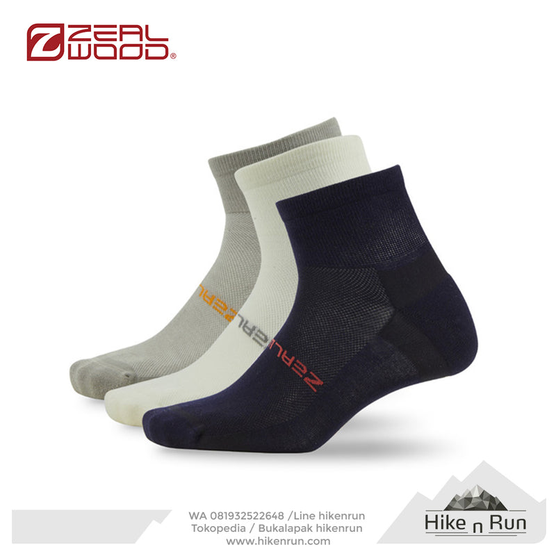 ZW Bamboo Ankle Triple Blue+White+Grey 161793Z054 - Hike n Run