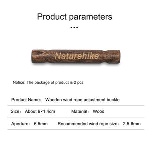 Rope Buckle Naturehike NH20PJ096 Wood Buckle 2 Pcs