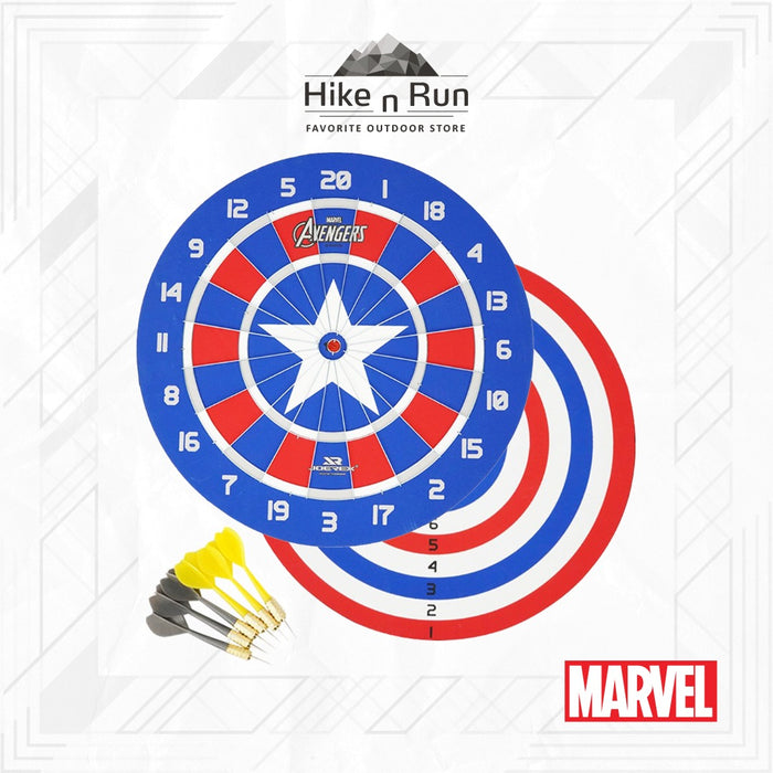 Dart Game Marvel JMBB19027-T Dartboard Captain America 18 Inch