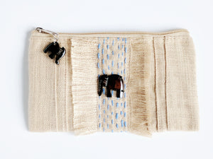 Clutch With Hand Carved Elephants