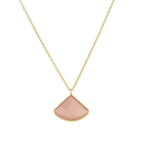 Necklace Fancy Peach Moonstone
