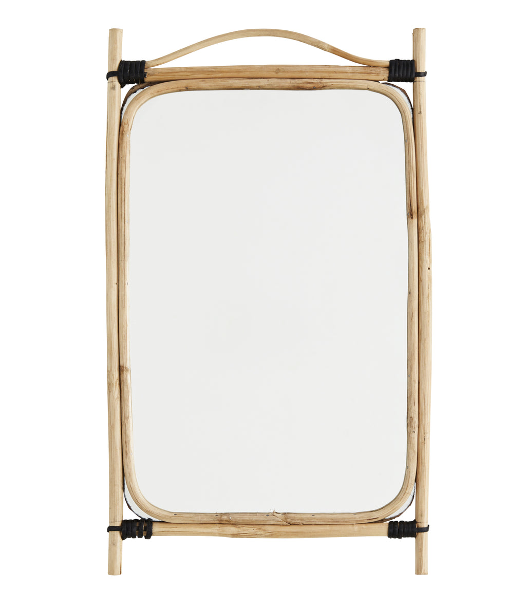 Rectangular Mirror w/ Bamboo Frame