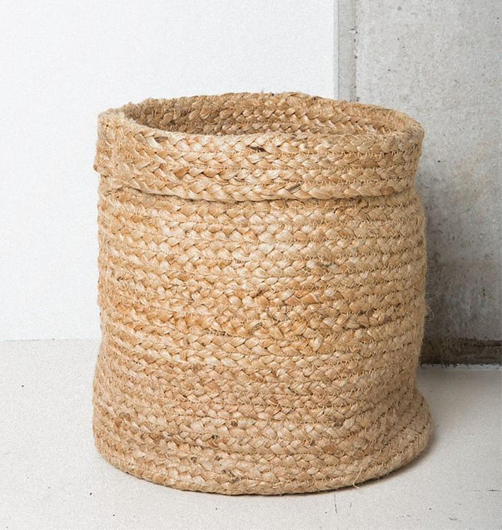 Basket Braided Jute D27 H26