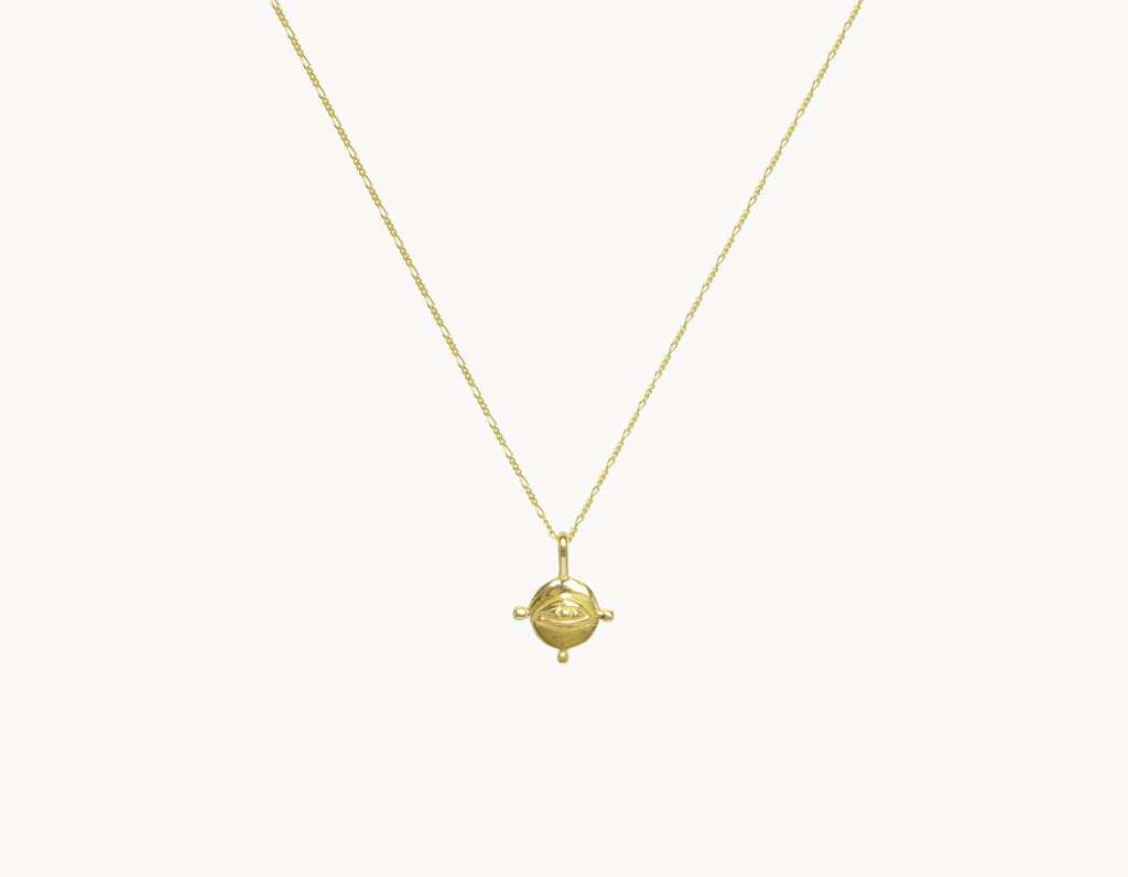 Round Eye Necklace Goud - Flawed - CuKi-Amsterdam
