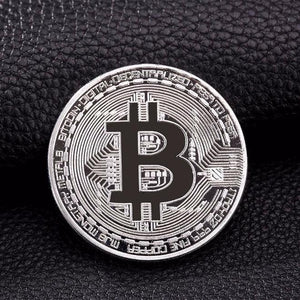 Gold & Silver Plated Physical Bitcoin