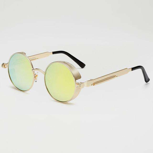 Hiphop Vintage Metal Sunglasses (Unisex)