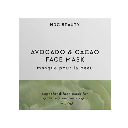 ndc beauty avocado & cacao superfood face mask