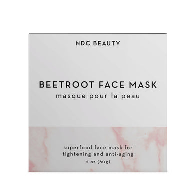 NDC Beauty beetroot superfood face mask