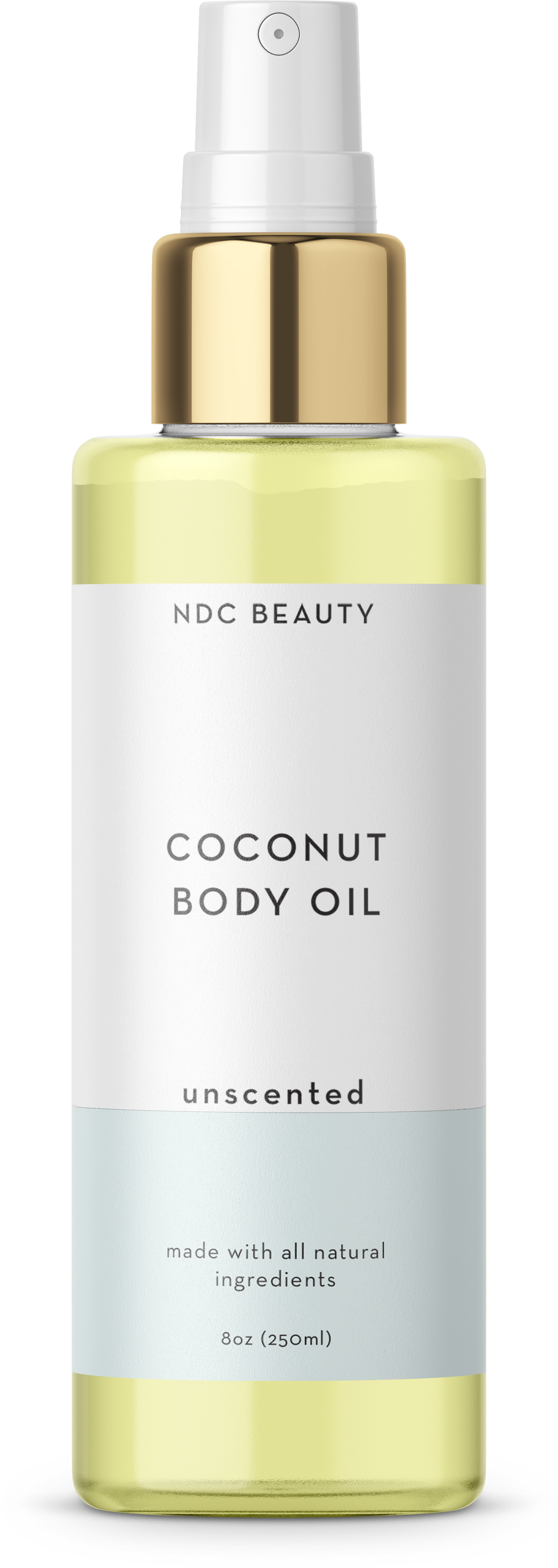 ndc beauty unscented coconut body oil