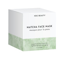 ndc beauty matcha superfood face mask box