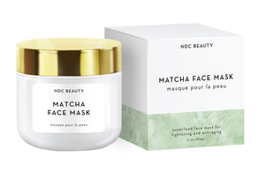 ndc beauty matcha superfood face mask box and jar