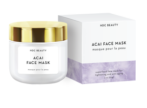 ndc beauty acai superfood face mask jar and box