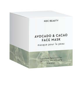 ndc beauty avocado & cacao superfood face mask box