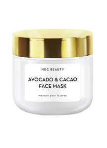 ndc beauty avocado & cacao superfood face mask jar