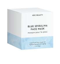 ndc beauty blue spirulina superfood face mask box