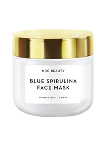 ndc beauty blue spirulina superfood face mask jar