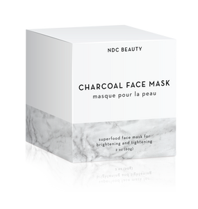 ndc beauty activated charcoal superfood face mask box