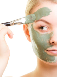 girl wearing ndc beauty matcha superfood face mask