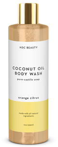 ndc beauty orange citrus coconut oil body wash