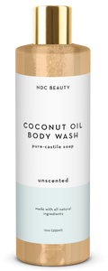 ndc beauty unscented coconut oil body wash