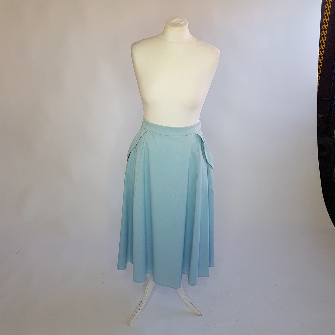 Light blue Swing Skirt