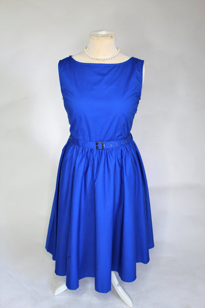 'Lindy Bop' blue swing dress