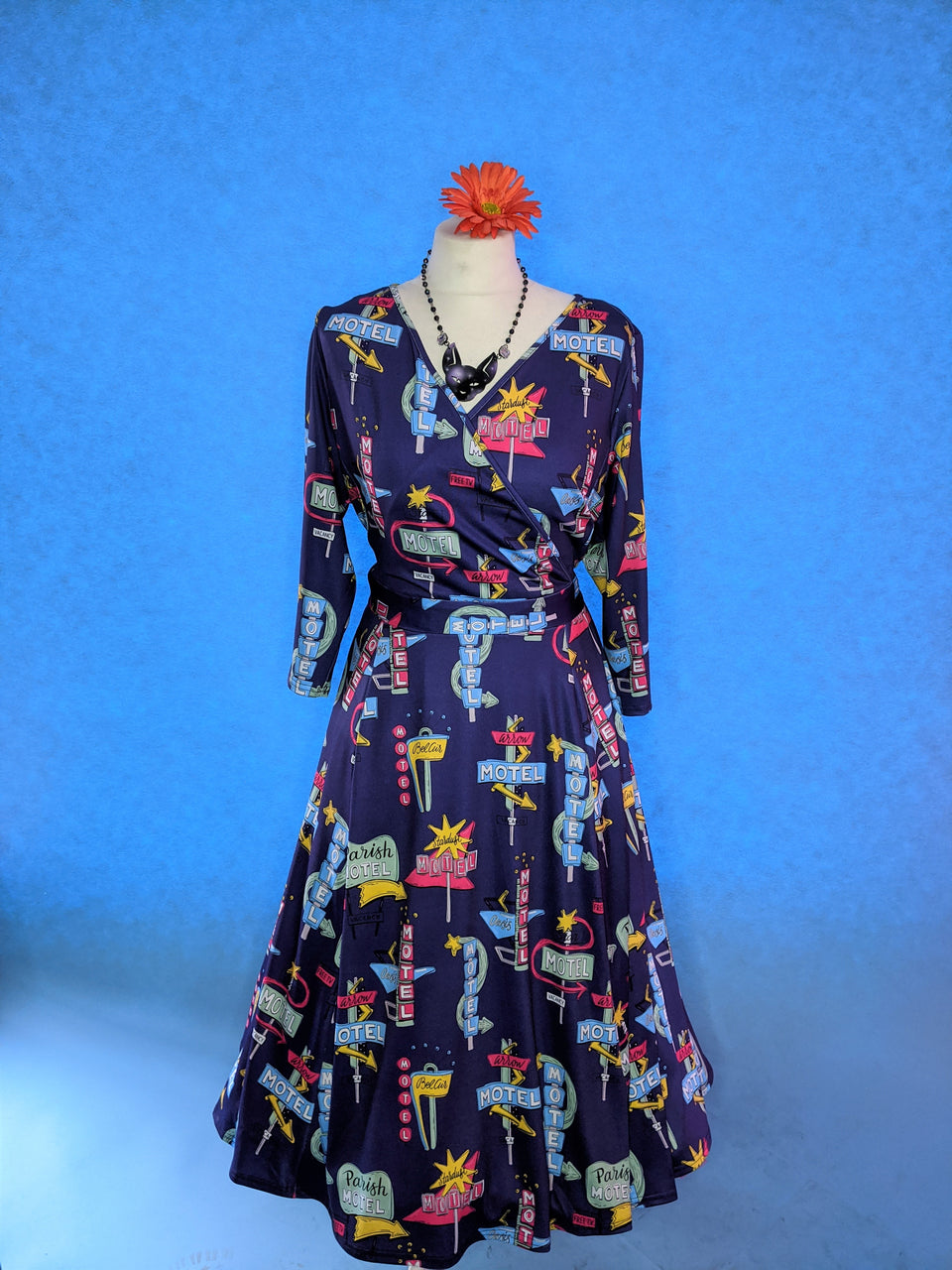Motel Wrap Swing Dress